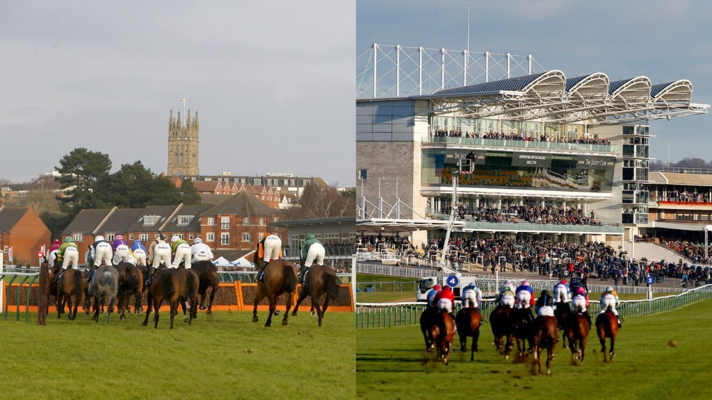 Warwick (left) and Newmarket (right). Rcsegoers return